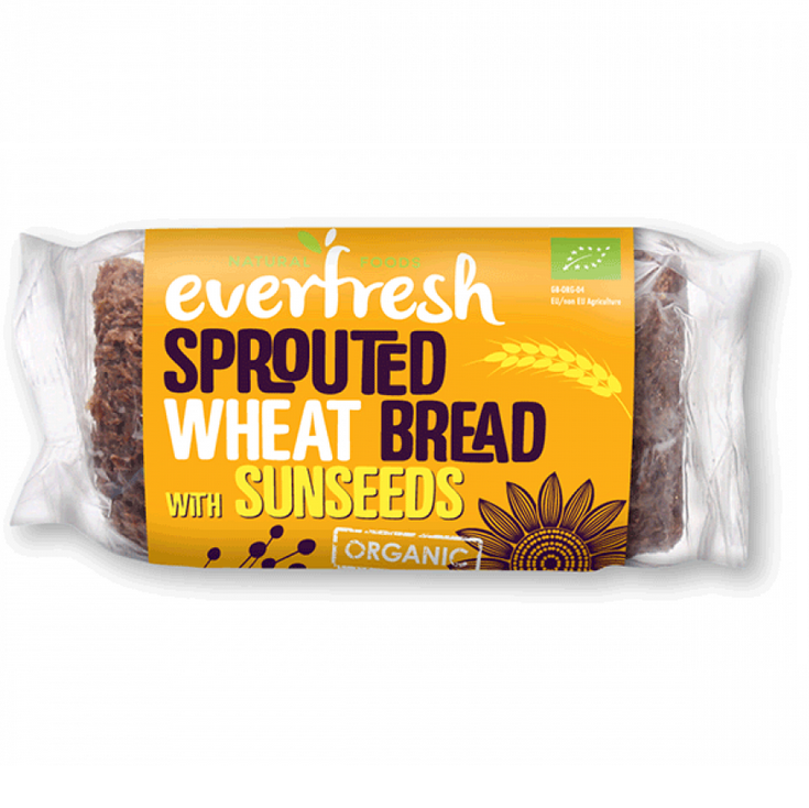 Everfresh Organic Sprouted Wheat Sunseed Bread 400g