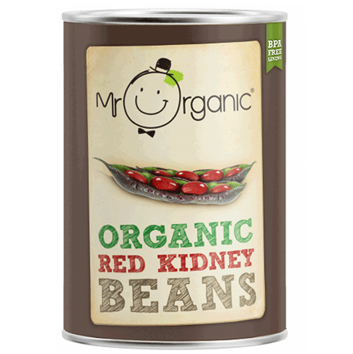 Mr Organic Red Kidney Beans Canned 400g